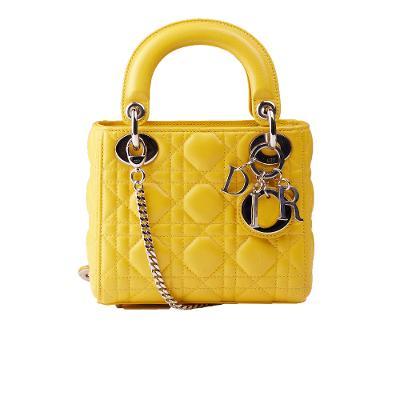 LADY dior mini bag yellow